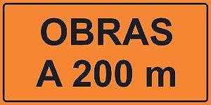 OEP 202 - Placa de Sinalização de Obras em Rodovias padrão DNIT. REFLETIVA