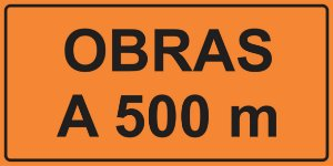 OEP 205 - Placa de Sinalização de Obras em Rodovias padrão DNIT. REFLETIVA
