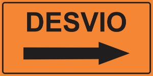 OEP 2105 - Placa de Sinalização de Obras em Rodovias padrão DNIT. REFLETIVA