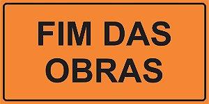OEP 2107 - Placa de Sinalização de Obras em Rodovias padrão DNIT. REFLETIVA