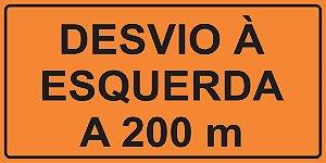 OEP 2109 - Placa de Sinalização de Obras em Rodovias padrão DNIT. REFLETIVA