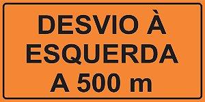 OEP 2110 - Placa de Sinalização de Obras em Rodovias padrão DNIT. REFLETIVA