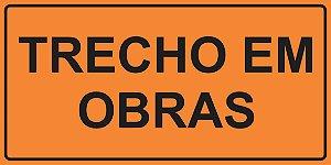 OEP 2112 - Placa de Sinalização de Obras em Rodovias padrão DNIT. REFLETIVA