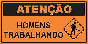 OEP 2113 - Placa de Sinalização de Obras em Rodovias padrão DNIT. REFLETIVA