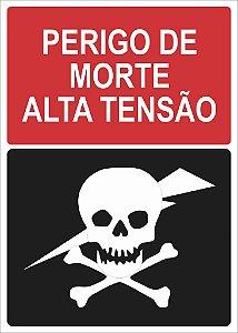 Placa Perigo - Alta Tensão
