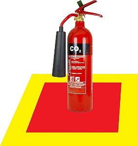Sinalização de Piso para Extintores