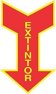 Seta Sinalizadora de Extintor - Tam. 15x20 cm