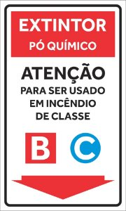 Placas Extintores - Classes