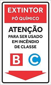 Placas Extintores - Classes
