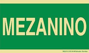 Placa Fotoluminescente - 24x12cm - Mezanino
