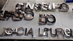 Letras em Aço Inox Polido ou Escovado