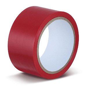 Fita Adesiva Demarcação de Solo Vermelha - CÓD. 852I/S 50 mm