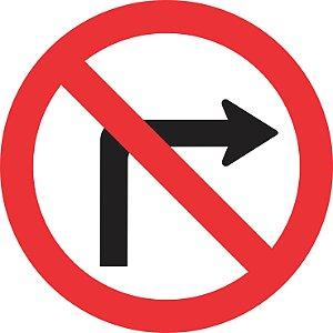 Placa de Regulamentação - R-4a - Proibido Virar à Direita