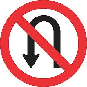 Placa de Regulamentação - R-5a - Proibido Retornar à Esquerda