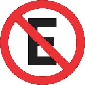 Placa de Regulamentação - R-6a - Proibido Estacionar