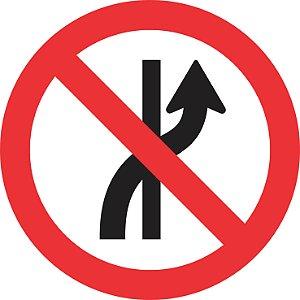 Placa de Regulamentação - R-8a - Proibido Mudar de Faixa