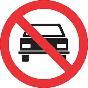 Placa de Regulamentação - R-10 - Proibido Trânsito de Veículos