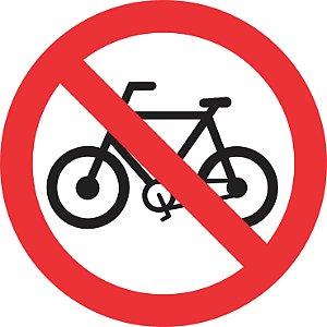 Placa de Regulamentação - R-12 - Proibido Trânsito de Bicicletas