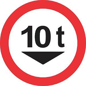 Placa de Regulamentação - R-14 - Peso Bruto Máximo Permitido