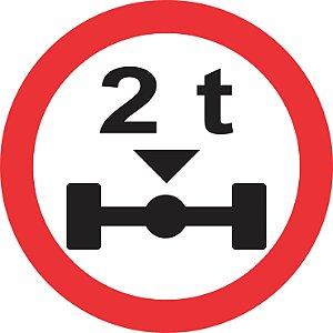 Placa de Regulamentação - R-17 - Peso Máximo Permitido por Eixo