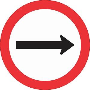 Placa de Regulamentação - R-24a - Sentido de Circulação