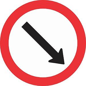 Placa de Regulamentação - R-24b - Passagem Obrigatória