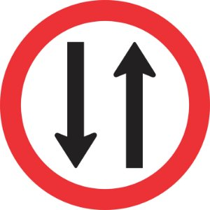 Placa de Regulamentação - R-28 - Duplo Sentido de Circulação