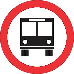 Placa de Regulamentação - R-32 - Circulação Exclusiva de Ônibus