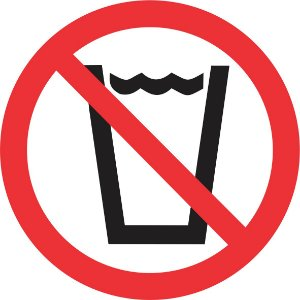 Etiqueta Proibido Beber