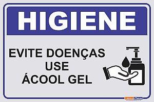 Placa Use Álcool Gel