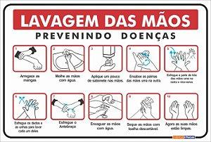 Placa Combate COVID -19 - Lavagem das Mãos