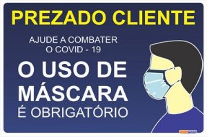 Uso Obrigatório de Máscara - Covid - 19