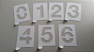 Matrizes de Algarismos e Alfabeto - 14x15 cm.