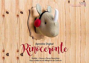 MEGA PROMOÇÃO - Apostila Digital Cabeça Rinoceronte Artes em Feltros