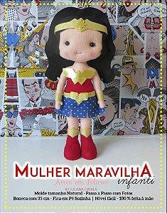 MEGA PROMOÇÃO Apostila Digital Mulher Maravilha Infanti - Artes em Feltros