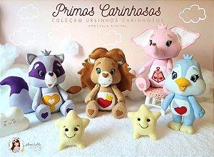 Apostila Digital PRIMOS CARINHOSOS 3D - (Envio imediato ) Parte da coleção Ursinhos Carinhosos
