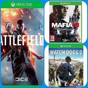 Combo de Jogos - Battlefield 1 - Mafia 3 - Watch Dogs 2 - Promoção Offline