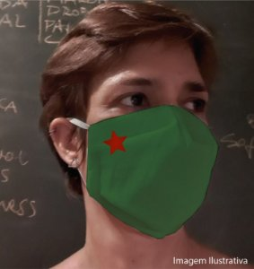 MÁSCARA ESTRELA - Tam P - verde