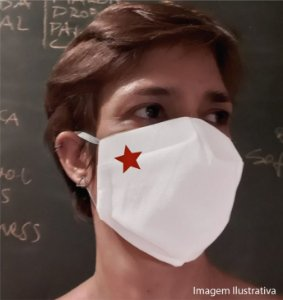 MÁSCARA ESTRELA - Tam M - branca