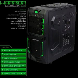 PC Gamer Warrior intel Core i3 - 8GB 1TB Placa de Vídeo 2GB GTX1050
