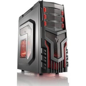 Gabinete Warrior Gamer GA124 s/fonte-cooler c/led