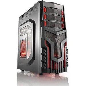 Gabinete Warrior Gamer GA124 s/fonte-cooler c/led
