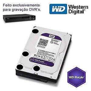 Hd Interno  Sata  Wd *purple* 4 Tb Para Seguranca / Vigilancia / Dvr - Wd40purz