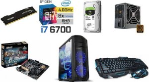 Computador Core i7 6700  memoria 8 gb ddr4+  HD 1Tb + teclado e mouse gamer
