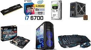 Computador Core i7 6700  memoria 8 gb ddr4+  HD 1Tb + teclado e mouse gamer