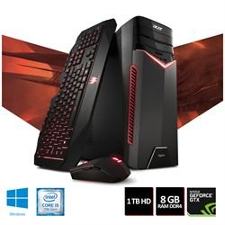 COMPUTADOR GAMER ACER ASPIRE GX-783-BR11 I5-7400 8GB RAM 1TB HD NVIDIA 1050GTX 4GB