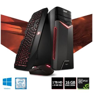 COMPUTADOR GAMER ACER ASPIRE GX-783-BR13 I7-7700 16GB RAM 1TB HD NVIDIA 1060GTX 6GB