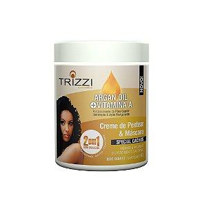 Creme de Pentear e Máscara 2 em 1 Argan + Vitamina A 1kg Trizzi
