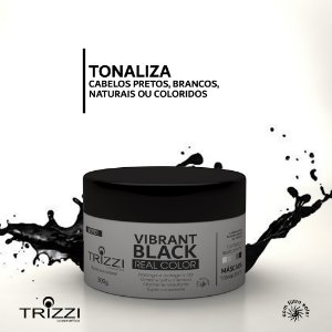 Máscara Vibrante Black Real Color 300g Trizzi