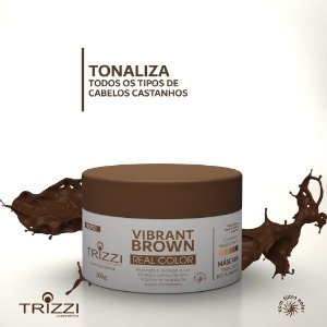 Máscara Vibrante Brown Real Color 300g Trizzi